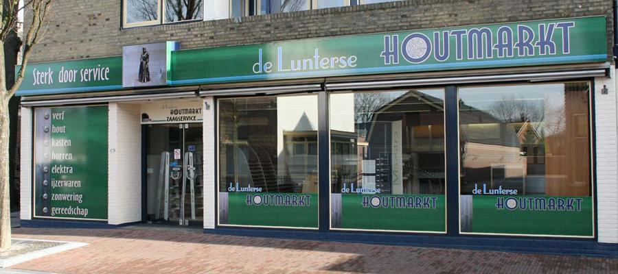Wij bij van Veldhuizen Reclame hebben een volledige make-over verzorgd, bij deze doe-het-zelf zaak de Lunterse Houtmarkt.