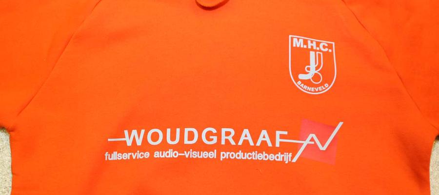 MHCB Hooded trui, enkel kleur bedrukking door van Veldhuizen Reclame.