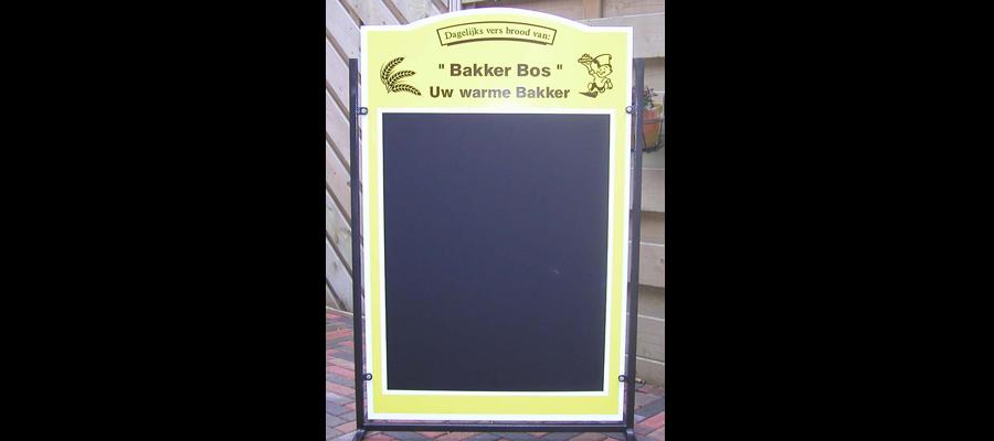 Handgemaakt krijt-stoepbord