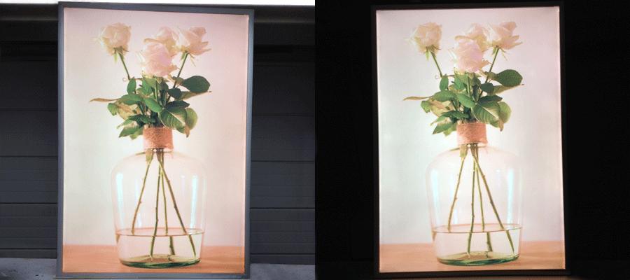 22 . slaapkamer noa : Led posterbord, maakt uw foto of poster altijd ...